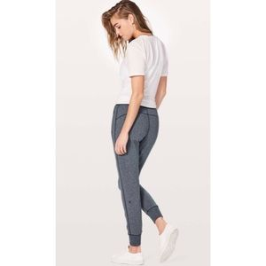 """Lululemon Cool & Collected Jogger *28"""" High Rise Heathered Speckled True Navy"""